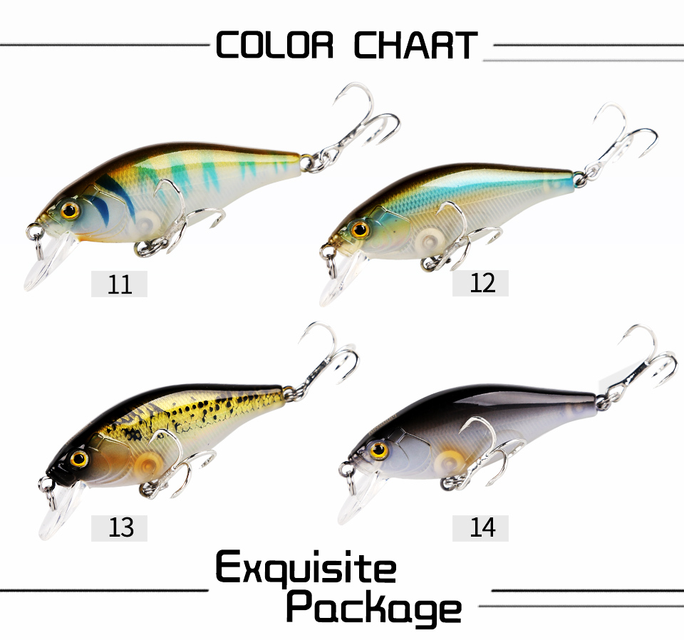 Kingdom Lifelike Floating Minnow Fishing lures 5.5cm 6.5g VMC Hooks Fish Wobbler Tackle Crangkbait Artificial Hard Bait Model 7501 (4)
