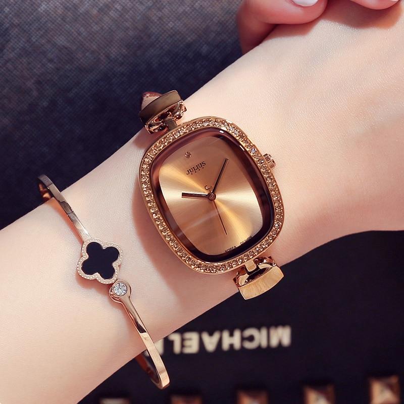 2017 womens watches top brand JULIUS luxury curren relogio feminino relojes mujer ladies watch Rhinestone Quartz Wristwatches<br>