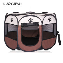 Dupplies Hot Portable Folding Dog House Solid Hand Wash Nylon Breathable Pet Tents(China)