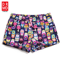 Women board shorts swimming short swimsuits cartoon parttern sexy quick dry lovely running shorts joggers bodybuilding sexy