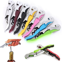 DZ1078 new Soft Velvet Touch Waiters Double Hinge Corkscrew Wine Key Bottle Opener