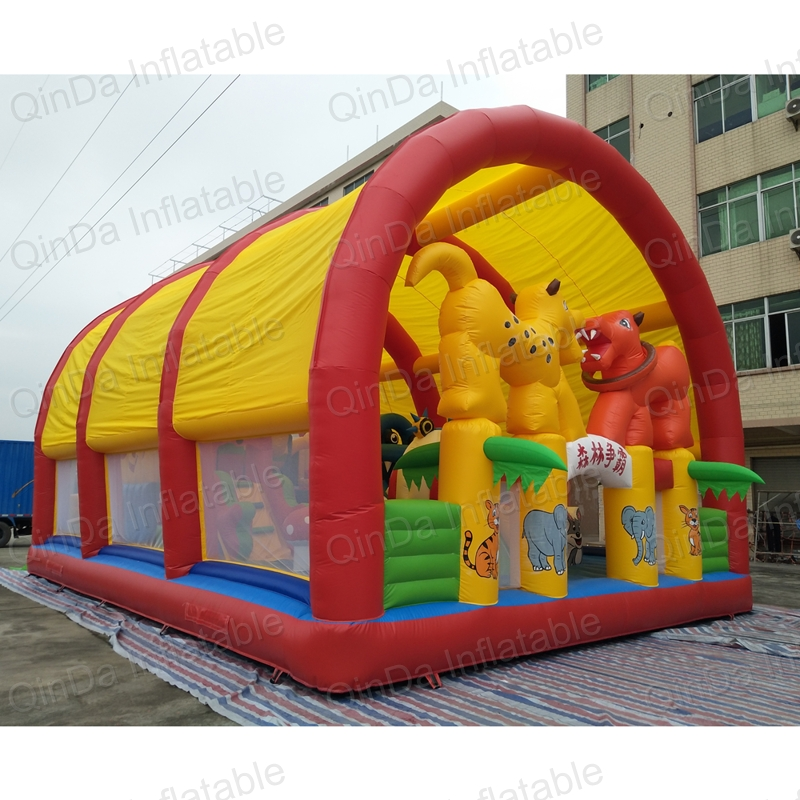inflatable bouncer slide fun city castle(28)