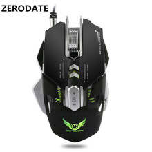 Original ZERODATE X300 3200 DPI Adjustable Optical 7 Buttons Programmable Gaming USB Wired Macros Games Cable Mouse Mice for PC