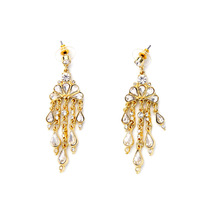 Trendy New Summer Style Gorgeous Peacock Crystal Drop Gold Chandelier Earrings Vintage Inspired Luxury Bridal Jewelry