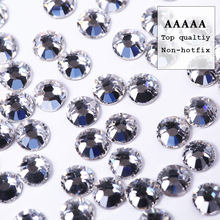 Top quality AAAAA New deals shiny SS3-SS30 packaging clear crystal flatback rhinestone for DIY beauty fashion accessories bead