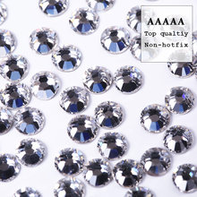 Top quality AAAAA New deals shiny SS3-SS30 packaging clear crystal flatback rhinestone for DIY beauty fashion accessories bead(China)