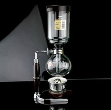 Syphon set household siphon coffee maker high temperature resistant glass material coffee beans for hero(China)