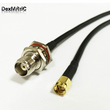 RF coaxial cable RG58 SMA male plug to TNC female bulkhead pigtail adapter 50cm/100cm wholesale price