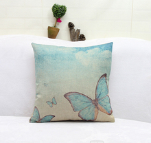 The Butterfly In The Blue Sky White Cloud Emoji Pillow Massager Decorative Pillows Home Bar Enhancement Elegant Gift