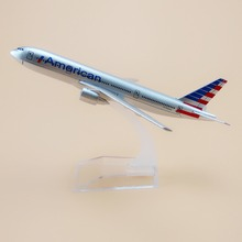 16cm Alloy Metal Air American AA Airlines Boeing 777 B777 Airways Plane Model Aircraft Airplane Model w Stand Gift(China)