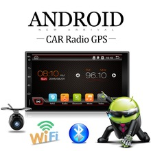 Android 4.4 Car GPS Stereo camera 1.2GHZ dual-Core Capacitive Double 2 Din Car PC AUX BT WiFi 3G Radio Auto monitor Tou HD Parki