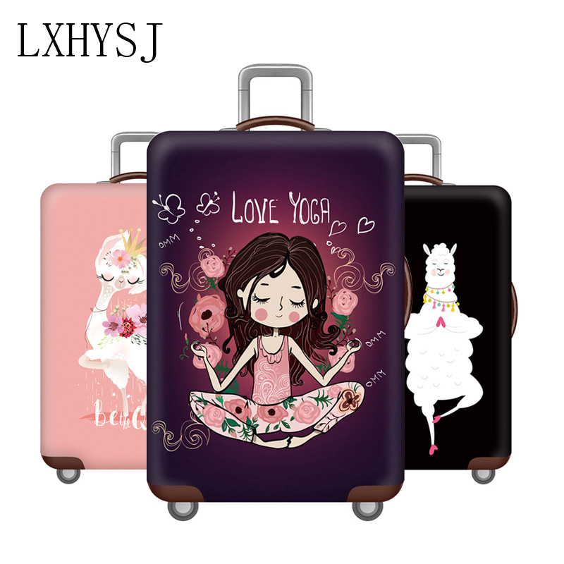 3D Panada Print Luggage Protector Travel Luggage Cover Trolley Case Protective Cover Fits 18-32 Inch