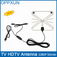 DVB-t2 antenna TV Antenna HDTV Antenna Amplifier Outdoor TV Antenna F Male with High Signal Amplifier 50 Mile Range(China)