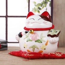 Crafts Arts Home decoration Ceramic large cat piggy ornaments Lucky cat shop opened Home Furnishing wedding birthday gift ideas