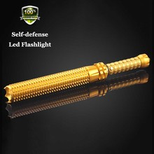 2016 New 300LM Q5 Telescopic Flashlight Self-Defense LED Flashlight Torch Light Outdoor defense Lamp linternas tacticas policial(China)