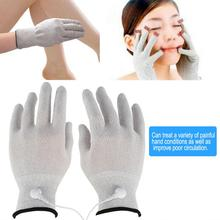 1 Pair Breathable Conductive Electrotherapy Massage Electrode Gloves With Tens Machine Therapy Hand Massager Electrode Gloves