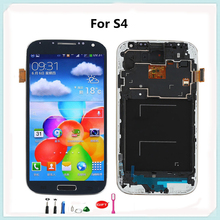Blue Alibaba China LCD Touch Highscreen Replacement for samsung S4 i9500 i9505 Display with Digitizer Frame Assembly Free Tools