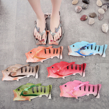 Summer Children Shoes Slippers Flip Flops Sandals Lightweight Beach Slippers Personality Kids Shoes Fish Slippers size 24-44