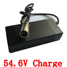 54.6V 2A Li-ion lithium Battery charger with DC head for 48V Lithium Li-ion e bike e bicycle electric battery with fan