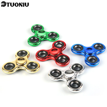 Buy Hot Tri-Spinner Fidget Toy Metal Stress EDC Anti Stress Finger Hand Spinner Child Adult Multicolor Toys Gift Autism Spiner for $1.80 in AliExpress store