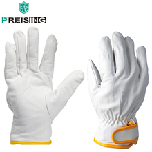 S/M/L/XL Welding Leathers Work Gloves Welder's Cowhide High Quality Resistance Wearable Security Protection White Safety Gloves