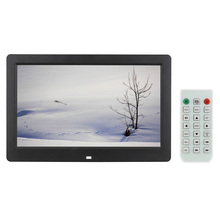 "10.1"" HD Digital Photo Picture Frame Wide Screen High Resolution Alarm Clock MP3 MP4 Movie Player with Remote Control"