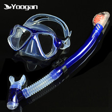Yoogan brand optical diving set for nearsighted divers Tempered glass silicone adult dive mask Full dry snorkel Swimming gears