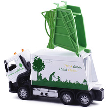 CAIPO Volvo authorized alloy sanitation garbage truck cleaning car children toy car model 88382