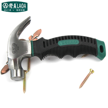 LAOA 8oz Mini Claw Hammer TPR handle Woodworking Hammer Tools Brand Stainless Steel Hammer