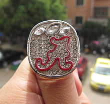 FreeShipping Men ring Replica 2012 Alabama Crimson Tide National Championship Ring fan Christmas gift Souvenir Factory Wholesale(China)