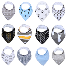 1 Pack Baby Bandana Drool Bibs for Drooling and Teething 100% Cotton Gift for Girls Boys Unisex