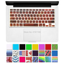 "2pc/lot New Solid Wood Texture Keyboard Cover Silicone Skin for MacBook Air 13"" Pro 13"" 15"" 17"" (with or w/out Retina Display)(China)"