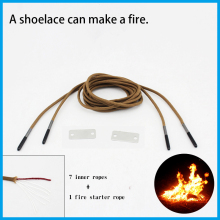 New Camping outdoor survival special Shoelaces to make fire mini flint magnesium Fire rods outdoor survival tool