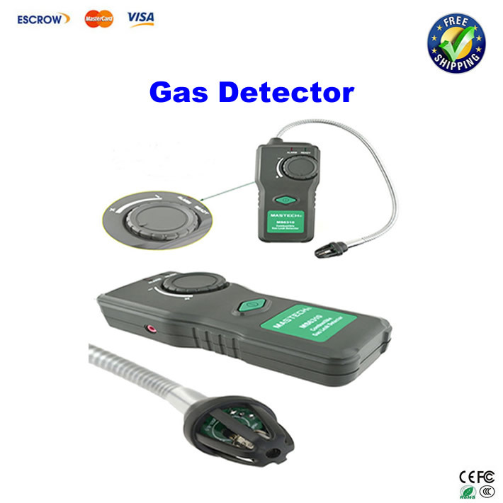 Portable Combustible Gas Leak Detector MASTECH MS6310 Natural Gas Propane Gas Analyzer With Sound Light Alarm<br>