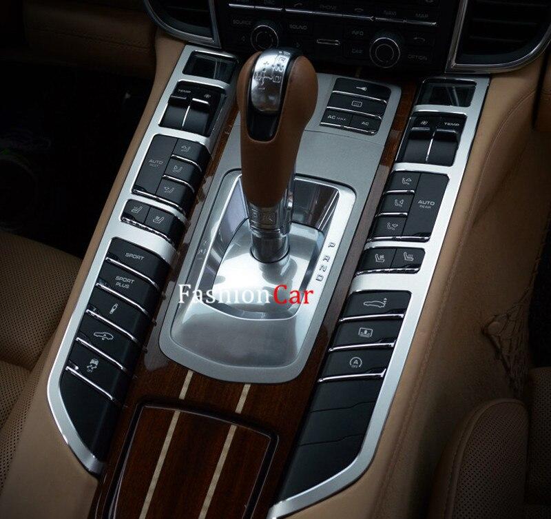 For Porsche For Panamera 2010 11 12 13 2014 2015 (970) Interior Gear box button panel Cover Trim 2pcs<br><br>Aliexpress