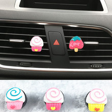 Lovely car air conditioner decorative perfume clip Exquisite ice cream styling car perfume Ladies car styling Decorative perfume