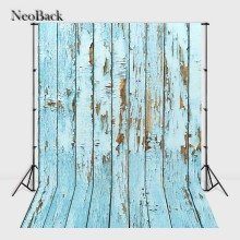 NeoBack 3x5ft 5x7ft blue tone Photography Background Wood Floor Vinyl Digital Printing Cloth Studio Photo Backdrops B1044