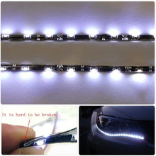 "High quality !!! 8W 30 LEDs WHITE 2X 12""(30cm) 15 SMD HID FOG DRL HEAD SLIM flexible XENON SIDE SHINE STRIP"