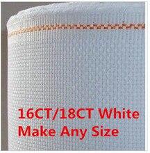 Популярные 16ct или 18ct 150x150 см или сделать Любой Размер Ткань Аида Ткань Вышивка крестом Холст цена оптовой продажи(China)