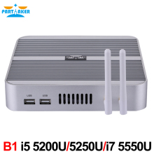 5 Gen Broadwell CPU Mini PC Computer Core i5 5200u i5 5250u HD 5500 HD 4K Fanless Mini ITX PC Rugged Case Windows HTPC(China)