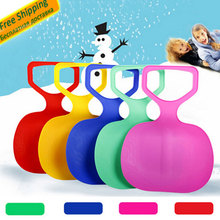 Outdoor Kids/Adult Winter Plastic Grass Skiing Sled Board Sledge Snowboard