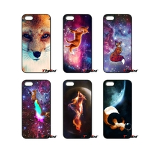 Cute space foxes Cartoon Printed For iPod Touch iPhone 4 4S 5 5S 5C SE 6 6S 7 Plus Samung Galaxy A3 A5 J3 J5 J7 2016 2017 Case(China)