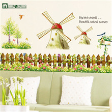 Factory Direct Sale Rural Windmill Sticker Quality Transparent PVC The Third Generation Can Remove The Wall Stickers