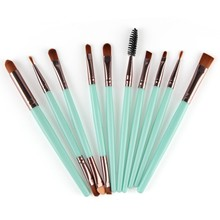Hot 10 Pcs Pro Beauty Eye Shadow Eyeliner Makeup Cosmetic Brush Brushes Set Tool