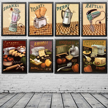 Abstract Hand Made Cooking Biscuits Noodle Machine Poster Pictures For Home Kitchen Or Restaurant Wall Decoration,PD0398(China)