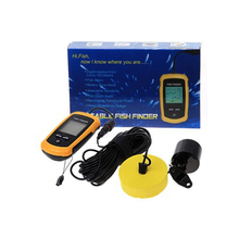 High Accuracy Wired Fish Finder Waterproof Depth Sonar Sounder Alarm Transducer Fish Detector 100m Echo Sounder Deep Fishfinder