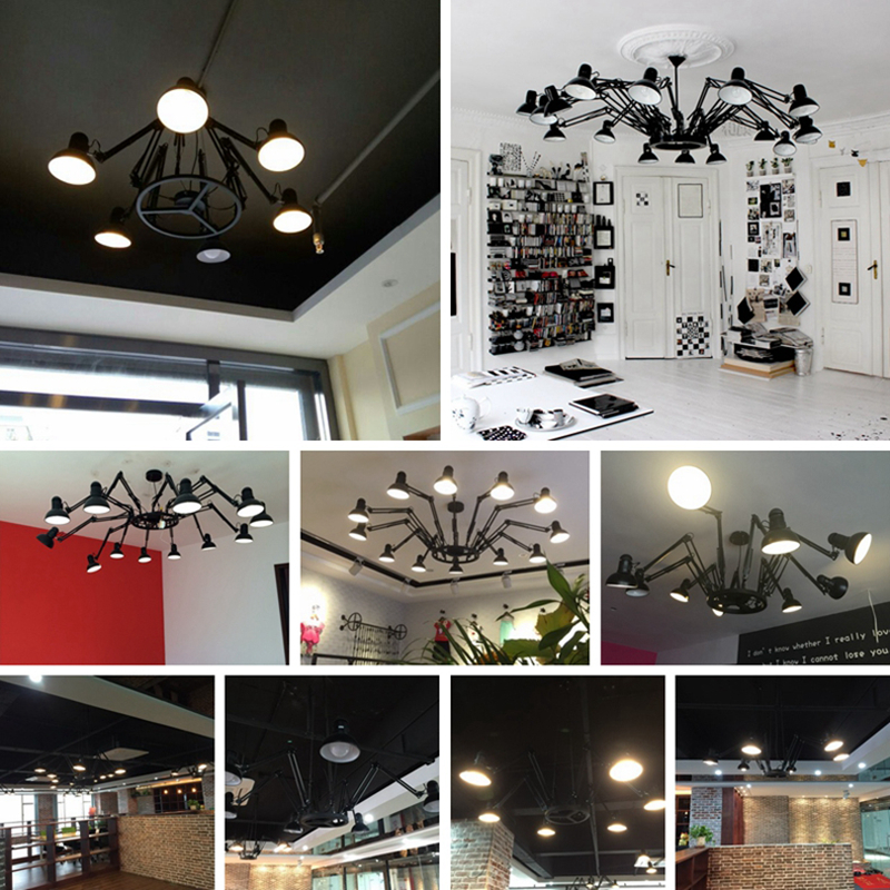 Black Modern American Personality lamp Spider Extendable light Pendant Scalable Lamp Home Office Bar Decoration Light Lamp (1)