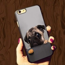 Lovely Pugs Life Pet Hard Case For iPhone4 4S 5 5S 5c 6plus 6S 5.5inch