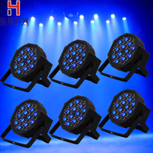 6pcs 36 X1w RGB LED Par Can Stage Light Disco DJ Bar Effect dmx led par Club Party light Strobe Fast Shipping