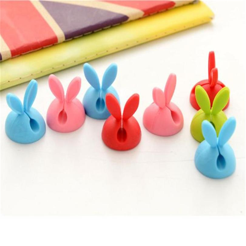 New Creative  6 x Cable Clip Desk Tidy Wire Drop Lead USB Charger Cord Holder Secure Table Wear-resistant hot sale Easy UseC022804